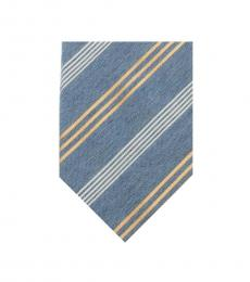 Moschino Blue Jeans Stripe Tie