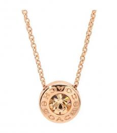 Coach Gold Open Circle Stone Necklace
