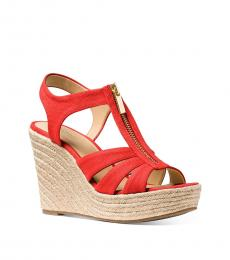 Michael Kors Dark Persimmon Berkley Wedges