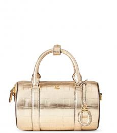 Ralph Lauren Warm Gold Textured Mini Satchel