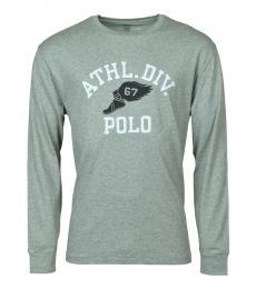 Ralph Lauren Grey Classic Fit Graphic Logo T-Shirt
