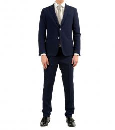 Blue Wool Two Button Suit
