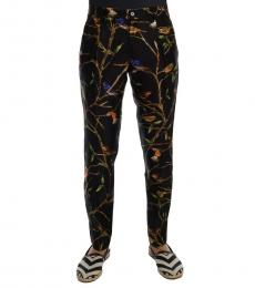 Dolce & Gabbana Black Bird Tree Print Pants