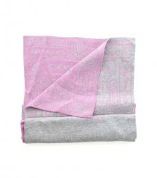 Grey Pink Signature Soft Scarf