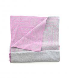 Coach Grey Pink Signature Soft Scarf