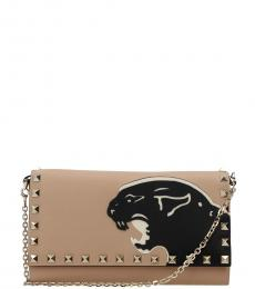 Valentino Garavani Beige Tiger Mini Shoulder Bag