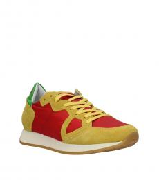 Philippe Model Red Yellow Sporty Sneakers