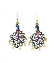 Multi color Stylish Peacock Earrings