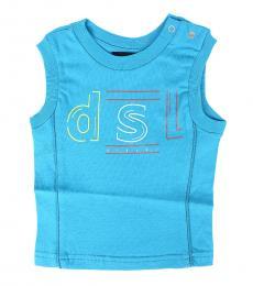 Diesel Baby Boys Blue Logo Tank T-Shirt
