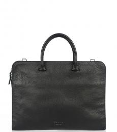 Prada Black Logo Large Briefcase Bag
