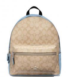 Khaki/Cornflower Charlie Medium Backpack