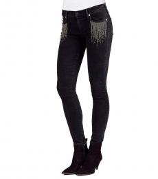 True Religion Black Wash Skinny Jeans