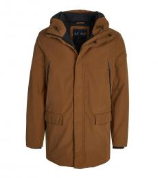 Armani Jeans Dark Brown Solid Jacket