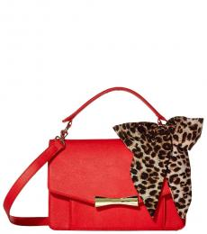 Betsey Johnson Red Scarf Large Crossbody