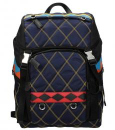 Prada Blue Quilted Large Backpack