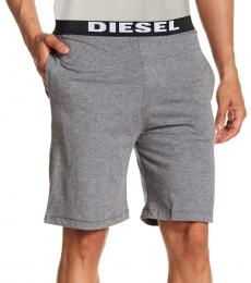 Diesel Melange Grey Tom Cotton Pajama Shorts