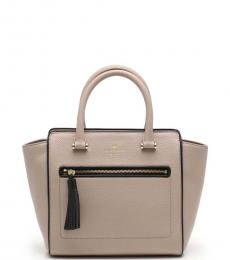 Kate Spade Beige Black Chester Street Medium Satchel
