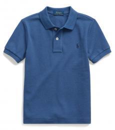 Ralph Lauren Little Boys Federal Blue Mesh Polo