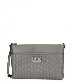 Karl Lagerfeld Lady Grey Quilted Medium Crossbody