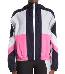 Betsey Johnson Multi color Colorblock Front Zip Jacket