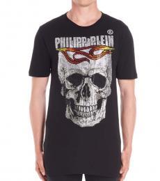 Philipp Plein Black Glitter Logo T-Shirt