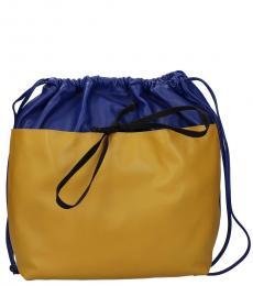 Marni Blue/Sand Drawstring Large Backpack