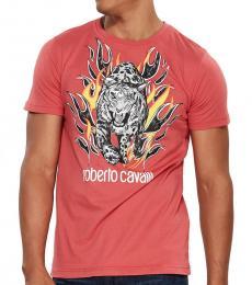 Coral Graphic Logo Print T-Shirt