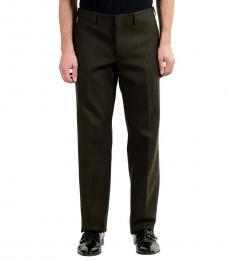 Dark Brown Wool Dress Pants