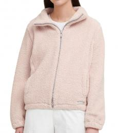 DKNY Light Pink Faux Sherpa Jacket