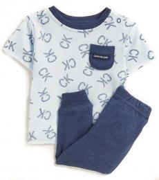 Calvin Klein 2 Piece T-Shirt/Pants Set (Baby Boys)