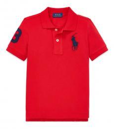 Ralph Lauren Little Boys Red Big Pony Polo