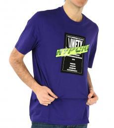 Diesel Dark Purple Printed Just T-Shirt