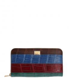 Dolce & Gabbana Multicolor Texture Logo Wallet