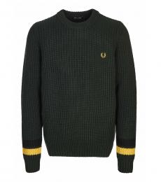 Fred Perry Olive Knitted Logo Sweater