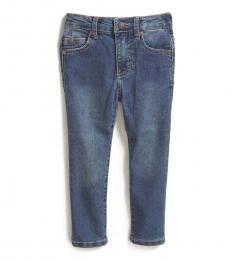 Little Boys Metro Navy Stretch Twill 5-Pocket Jeans
