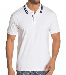 White Short Sleeve Polo