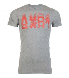 Armani Exchange Grey Slim Fit Logo T-Shirt