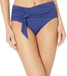 Blue Opal Side Retro Bikini Bottoms