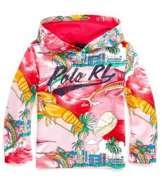 Little Boys Multicolor Tropical Hooded T-Shirt