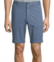 Theory Blue Stretch-Cotton Shorts