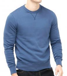 Blue Garment-Dyed Sweatshirt