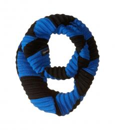 Calvin Klein Montana Sky Pleated Knit Loop Scarf