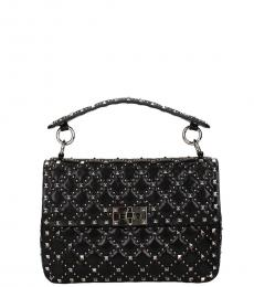 Valentino Garavani Black Rockstud Small Shoulder Bag