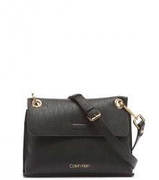 Calvin Klein Black Sonoma Flap Medium Crossbody