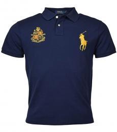 Ralph Lauren Navy Blue Custom Slim Fit Polo