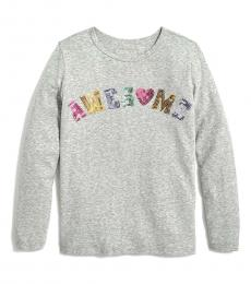 J.Crew Little Girls Grey Awesome T-Shirt
