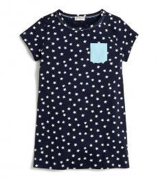 J.Crew Girls Navy Star T-Shirt Dress