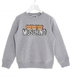 Moschino Boys Grey Teddy Sweatshirt