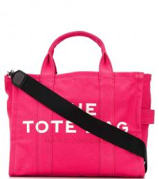 Marc Jacobs Bright Pink Logo Small Tote