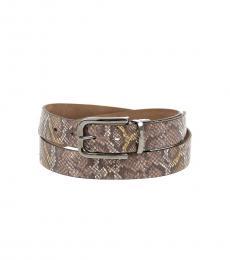 Just Cavalli Multicolor Snake Printed Belt